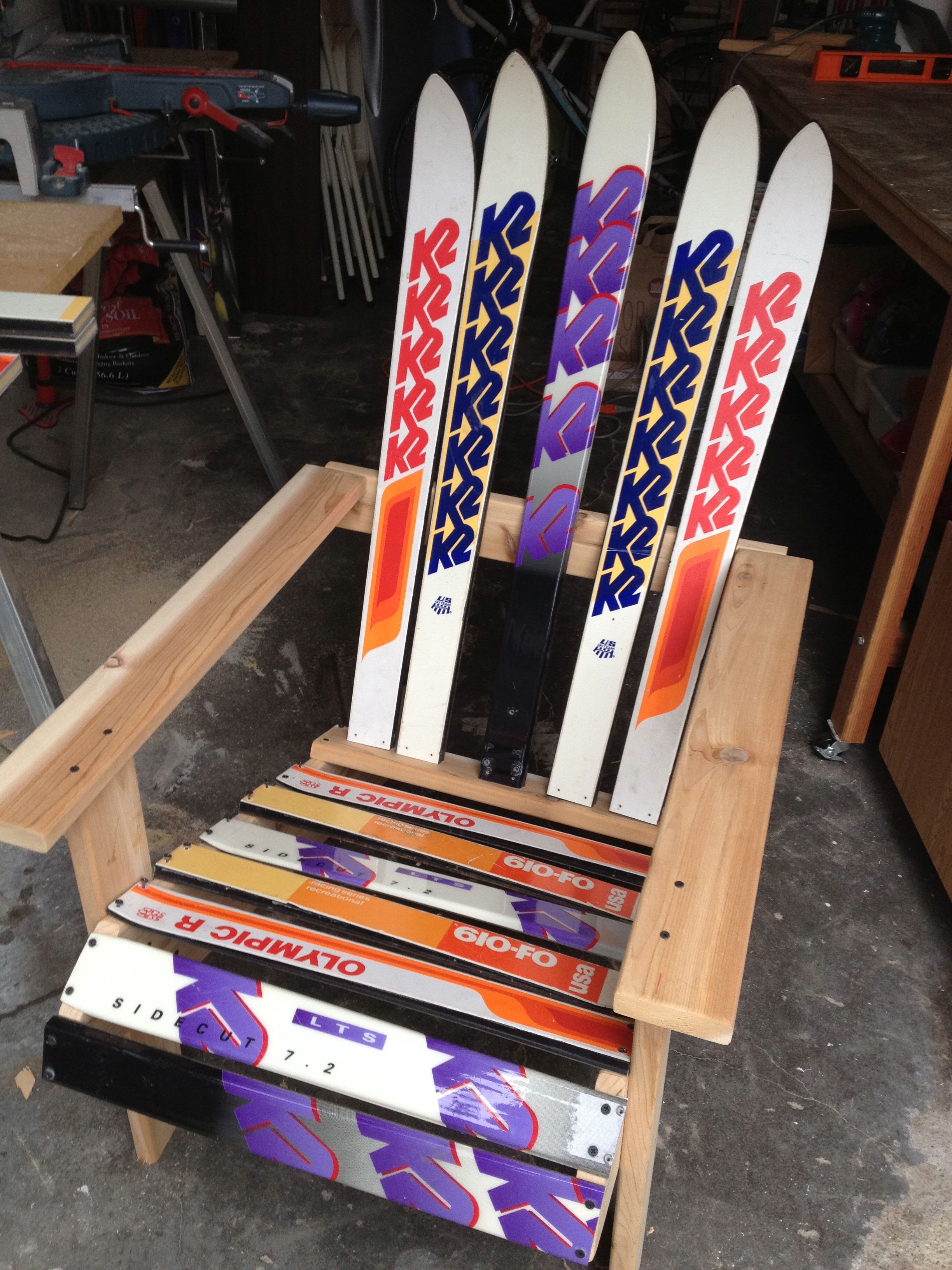 Amazing photo of PDF DIY How To Make Adirondack Chairs Out Of Skis Download inset  with #AB2820 color and 2448x3264 pixels