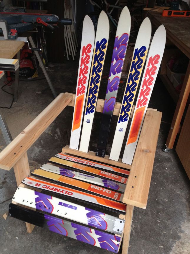 how to make adirondack ski chair