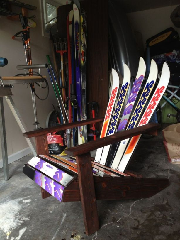 how to make an adirondack chair from skis